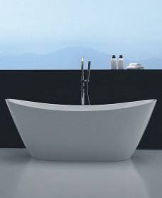 Montclare 1700 x 790 Free Standing Bath and Click Clack Waste