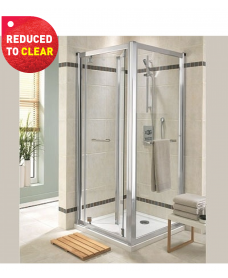 Twyford Geo6 Bifold Shower Door 760mm - Adjustment 710mm - 760mm - REDUCED TO CLEAR