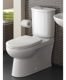 Galerie Fully Shrouded Close Coupled Toilet & Seat