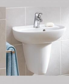 Twyford Galerie Cloakroom Basin 45cm  & Semi Pedestal (1TH)