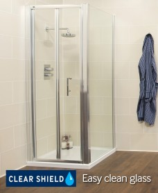 Rival Range 700 Bifold Shower Enclosure with Side Panel