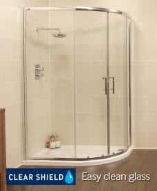 Kyra Range 1200x900 Offset Quadrant Shower Enclosure - Adjustment 1155 -1180mm + 850 - 880mm