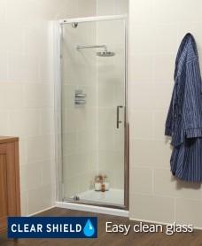 Kyra Range 700mm Pivot Shower Door - Adjustment 640-700mm