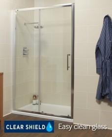 Kyra Range 1100 Sliding Shower Door - Adjustment 1060 -1120mm