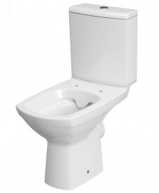 Nanuna Rimless Close Coupled, Horizontal Outlet including soft close seat
