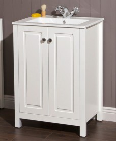 Ashbury Traditional 60 Chalk White Vanity Unit & Totano Basin