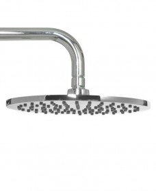 Lenan Round 200 Shower Head & 300 Wall Shower Arm - All Chrome