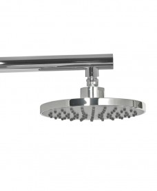 Lenan Round 200 Shower Head & 440 Luxary Wall Shower Arm - Grey Face