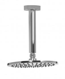 Lenan Round 200 Shower Head & 200 Ceiling Shower Arm - All Chrome