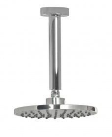 Lenan Round 200 Shower Head & 200 Ceiling Shower Arm - Grey Face