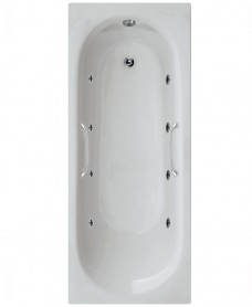Leyton 1700 x 700 Twin Grip Single Ended 8 Jet Whirlpool Bath