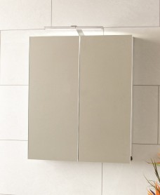 Nile 2 Door Aluminium Bathroom Cabinet 600 x 700