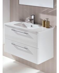 Ramia White 80cm Vanity Unit 2 Drawer and Basin