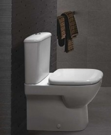 Twyford Flushwise® Moda Fully Shrouded Close Coupled Toilet & Soft Close Seat