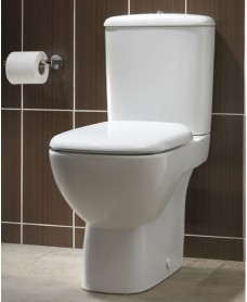 Twyford Flushwise® Moda Close Coupled Toilet & Soft Close Seat - 4/2.6L Flush