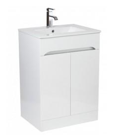 Merida 60cm White Vanity Unit , Basin & Tap