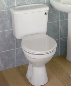 Option Close Coupled Toilet Lever Flush & Seat