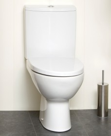 Parva Close Coupled Toilet & Soft Close Seat - Short Projection