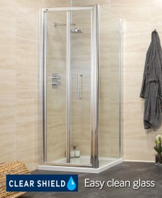 Rival Range 900 Bifold Shower Enclosure with Side panel