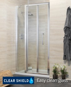 Rival 1300 Bifold Shower Door with Single Infill Panel - Adjustment 1240-1300mm