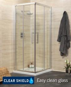 Rival Range 800 Corner Entry Shower Enclosure - Adjustment 750-780mm