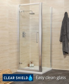 Rival Range 900 Hinge Shower Enclosure with Side Panel