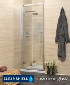 Rival Range 900 Hinge Shower Door - Adjustment 840-900mm