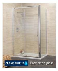 Rival Range 1600 x 800 sliding shower door