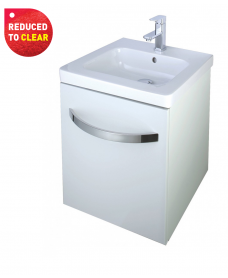 Haven 550 Vanity Unit White - REDUCED TO CLEAR