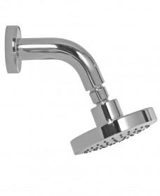 Ravia Round 120 Shower Head & 114 Wall Shower Arm - All Chrome