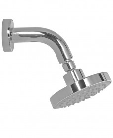 Ravia Round 120 Shower Head & 114 Wall Shower Arm - Grey Face
