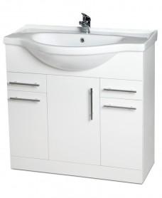 Blanco 75cm Vanity Unit, Basin & Tap & basin Waste