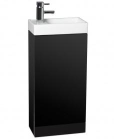 Space 40cm Black Floor Standing Unit ,  Cloakroom Basin & Tap