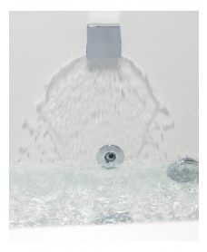 Square Overflow Bath Filler including click clack bath waste