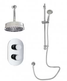 Jupiter Oval Thermostatic Shower Kit B