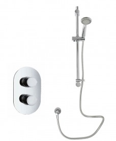 Jupiter Oval Thermostatic Shower Kit M