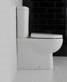 Tonique Fully Shrouded Close Coupled Toilet & Soft Close Seat - Comfort Height