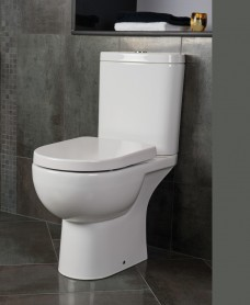 Tonique Close Coupled Toilet & Soft Close Seat - Comfort Height