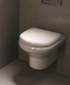 RAK Compact Wall Hung Toilet and Soft Close Seat