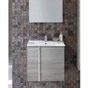 Athena Sandy Grey 60cm Wall Hung Vanity Unit 2 Drawer & Basin