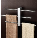 Bergen Wall Mounted Rack With 3 Sliding Towel Rails
