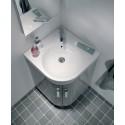 Twyford E200 500 Grey Corner Vanity Unit Floor Standing