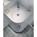 Twyford E200 500 White Corner Vanity Unit and Basin - Floor Standing