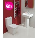 Cubo Toilet and Wash Basin Set