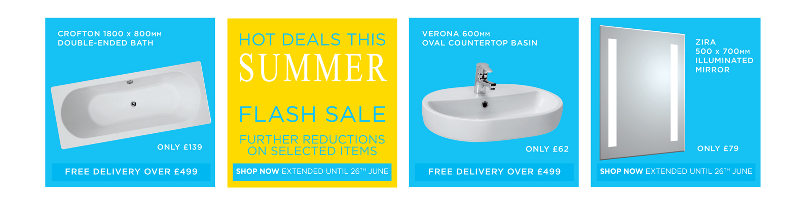 SUMMER FLASH SALE - FURTHER REDUCTIONS