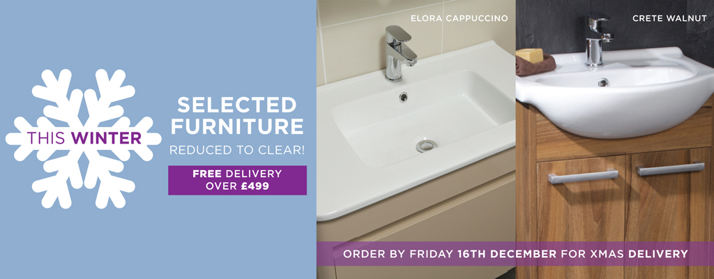 Selected Bathroom Furniture Reduced to Clear