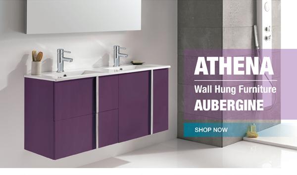 ATHENA AUBERGINE WALL HUNG VANITY UNITS