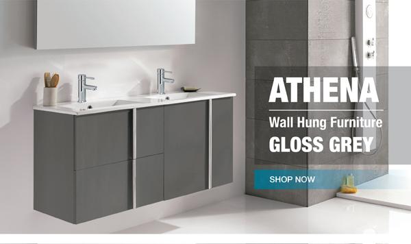 Athena Gloss Grey Wall Hung Vanity Units