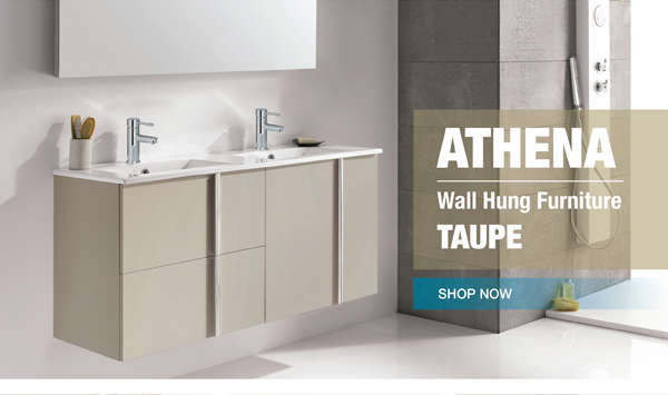 ATHENA TAUPE WALL HUNG VANITY UNITS