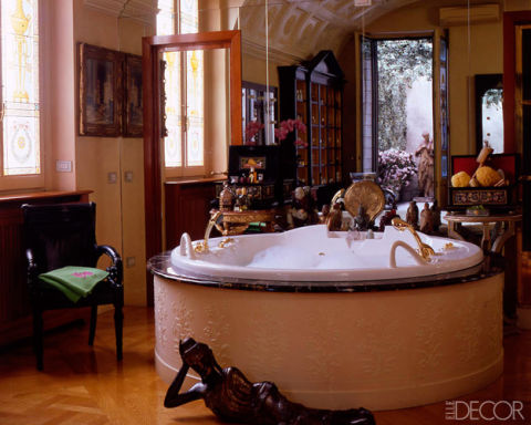 Donatella Versace's Milan Bathroom